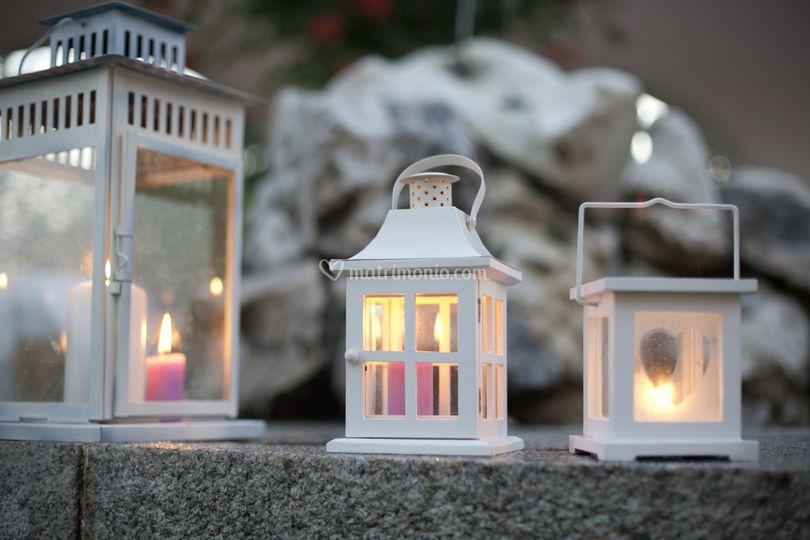 Lanterne con candele