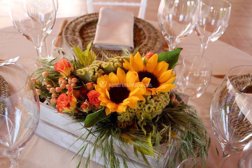 Matrimonio Rustico Centrotavola : Zandi fiori