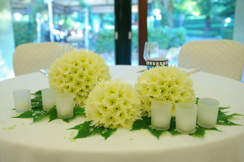 Centri tavola per matrimoni