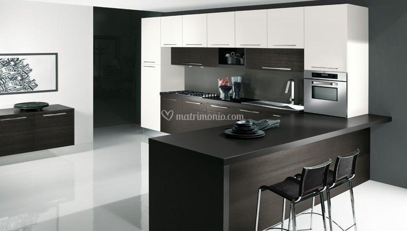 Cucina rovere grigio bianco di arredamenti lodi carlo di - Cucina rovere bianco ...
