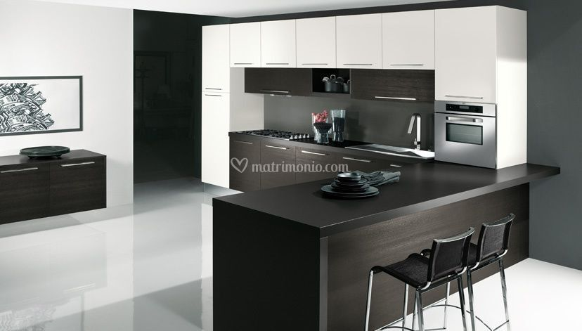 Cucina rovere grigio bianco di Arredamenti Lodi Carlo di Lodi ...
