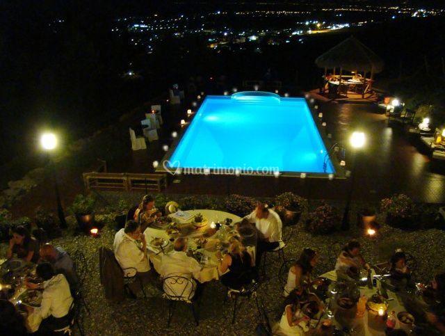 Terrazza sulla piscina