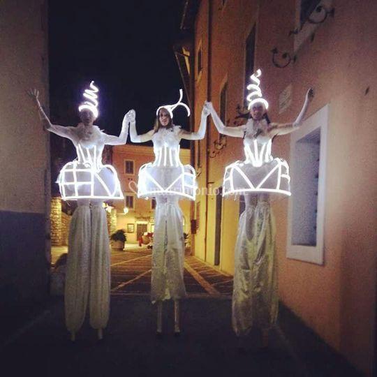 Trampolieri luminosi
