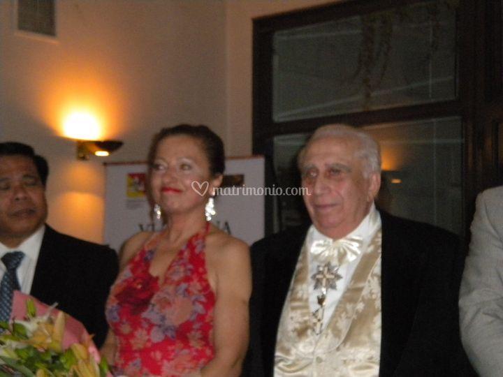 Col maestro Rolando Nicolosi, pianista delle più grandi star della lirica
