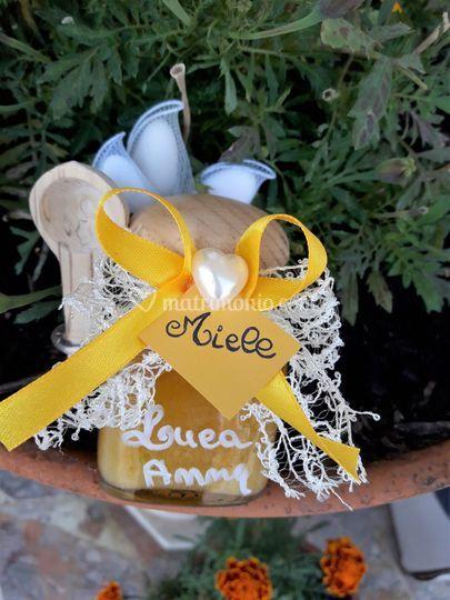 Vasetto miele cucchiaio legno di Dero Bomboniere | Foto 28