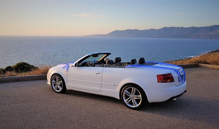 Audi cabrio wedding car