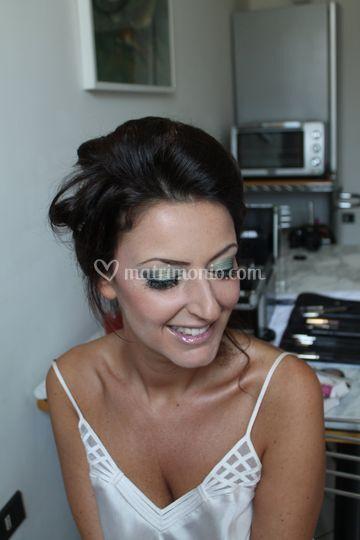 Make-up Sposa cquamarina