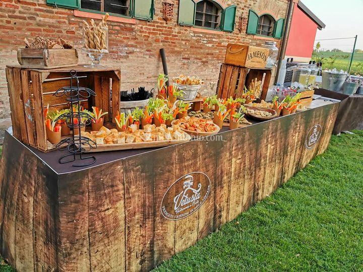 Matrimonio vintage street food