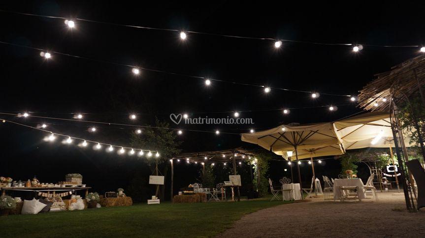 Illuminazione con catenarie di roma eventi musicali foto
