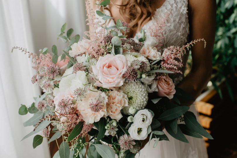 Bouquet sfumature pastello