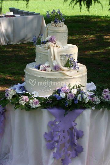 Decorazione torta e tavolo