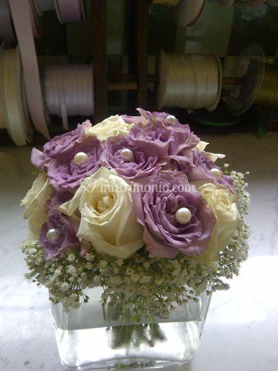 Bouquet di rose con perle