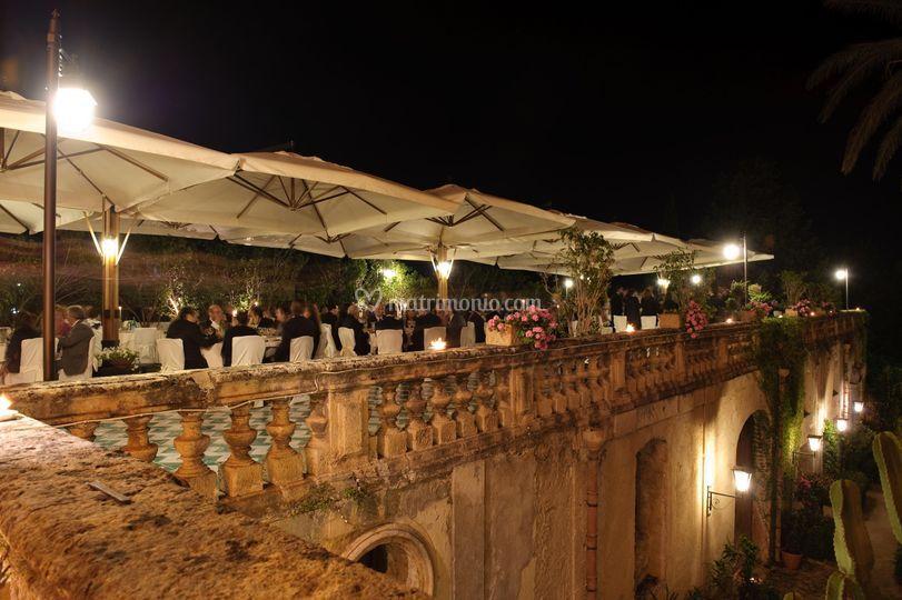 Banchetto in terrazza