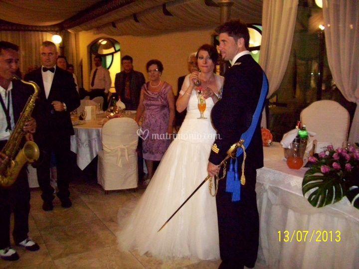 Accoglienza sposi con sax
