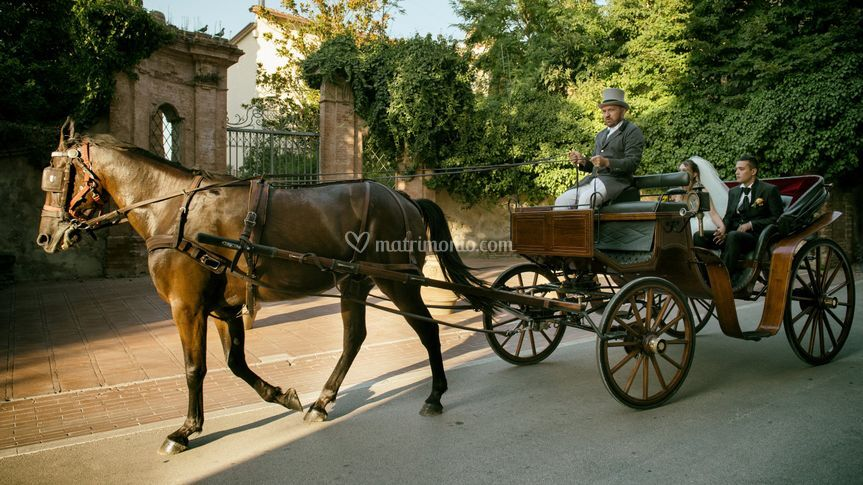 The Wedding by Carriage
