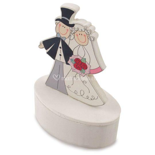 Scatola confetti sposi
