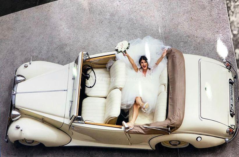 La Rolls Royce dall'alto
