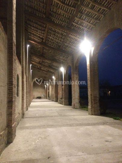 Portico illuminato