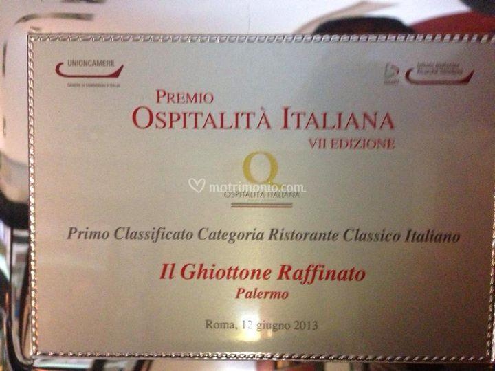 Premio ospitalita' italiana