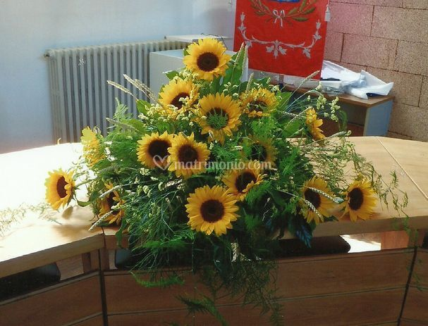 Composizioni Con Girasoli Matrimonio : Dona un fiore