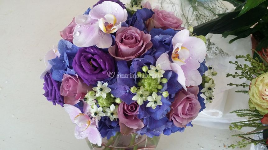 Bouquet orchidee ortensie