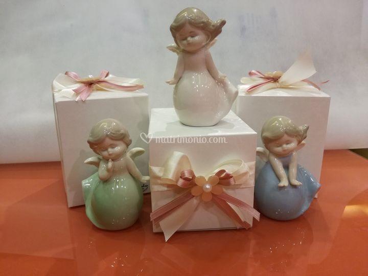 Bomboniera angeli porcellana