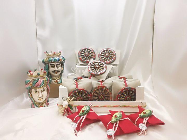 Bomboniera ceramica siciliana