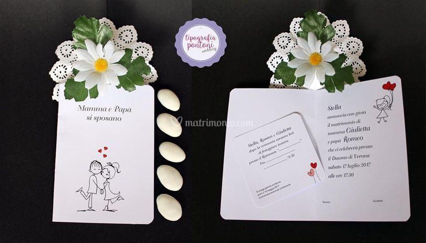 Partecipazioni Matrimonio Udine.Tipografia Pontoni
