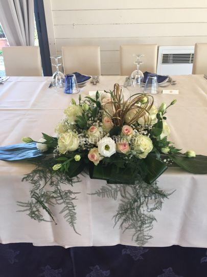 Composizione tavolo sposi