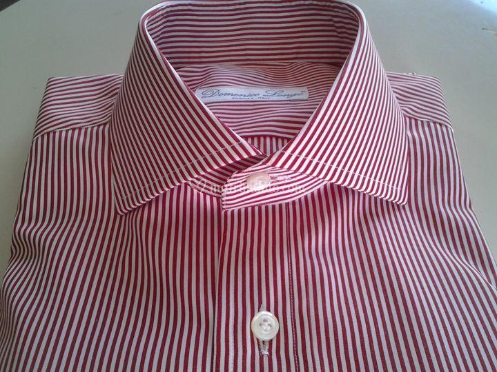 Camicia righe rosse