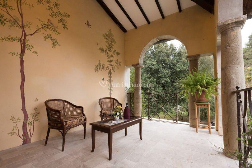 Il terrazzo della suite