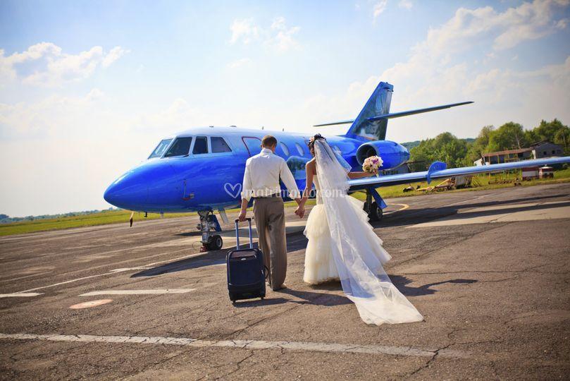 Jet privato sposi