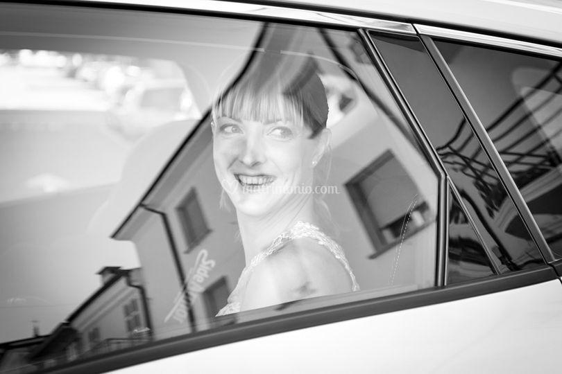 Riflessi sorriso sposa