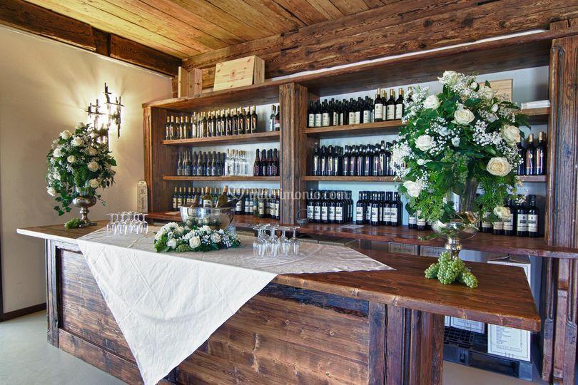 Il bar di degustazione vini