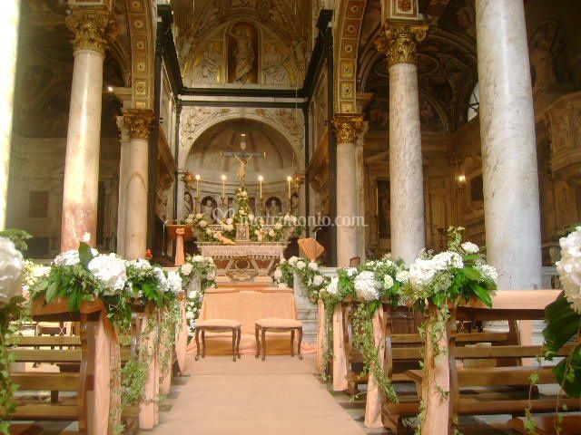Allestimento Chiesa Ortensie : I fiori di fede