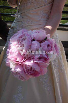 Bouquet sposa di peonie