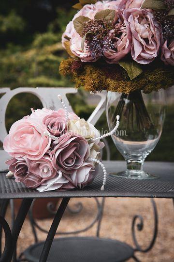 Allestimento con bouquet