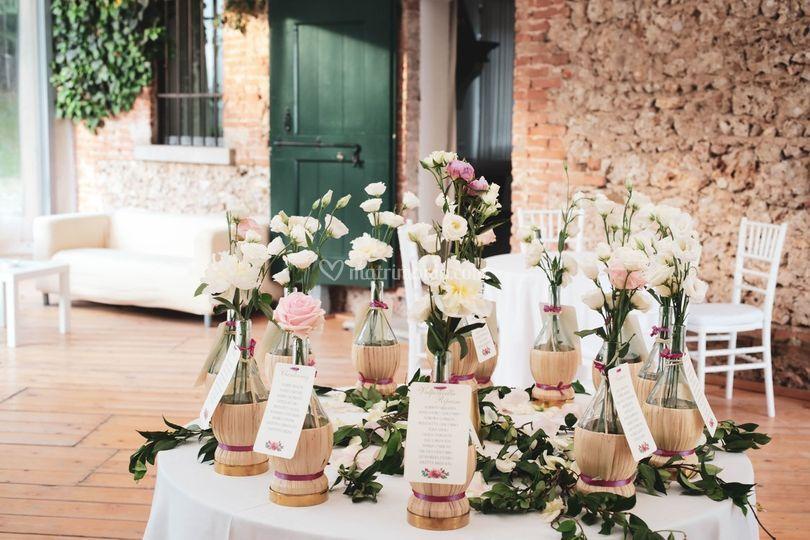 Tableau mariage tema Vino