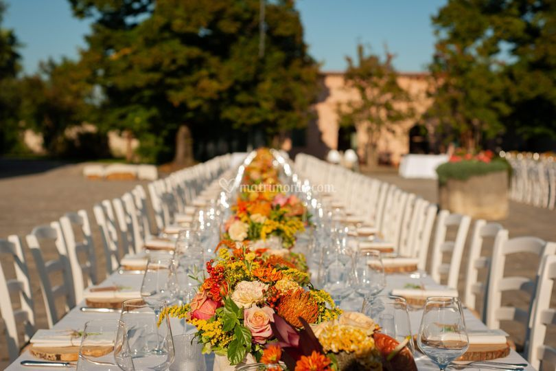Matrimonio all'aperto country