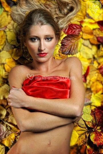 Trucco glamour fotografico luci calde