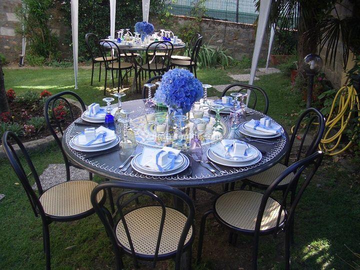 Decorazione floreale blu di terrazza del principe foto 3 for Decorazione floreale