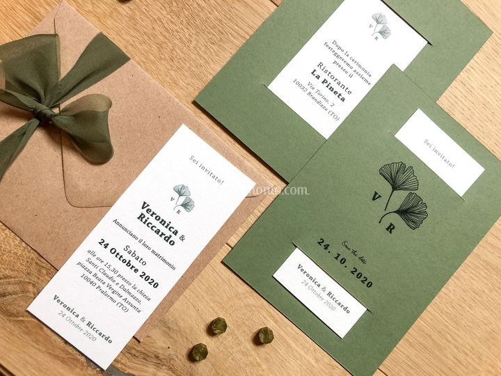 Gingko Wedding Invitations