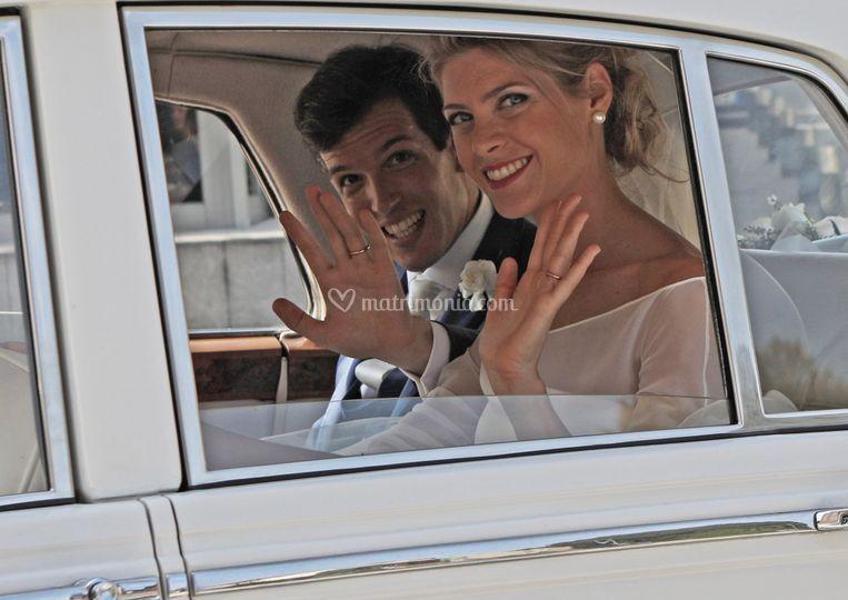 Arrivo degli sposi