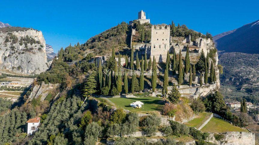 Castello di Arco (vista aerea)