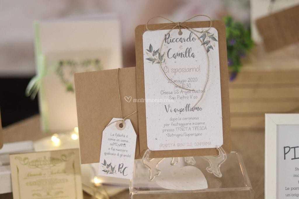 Partecipazioni Matrimonio Lecce.Carta Piantabile Di Stranamente Design Foto 2
