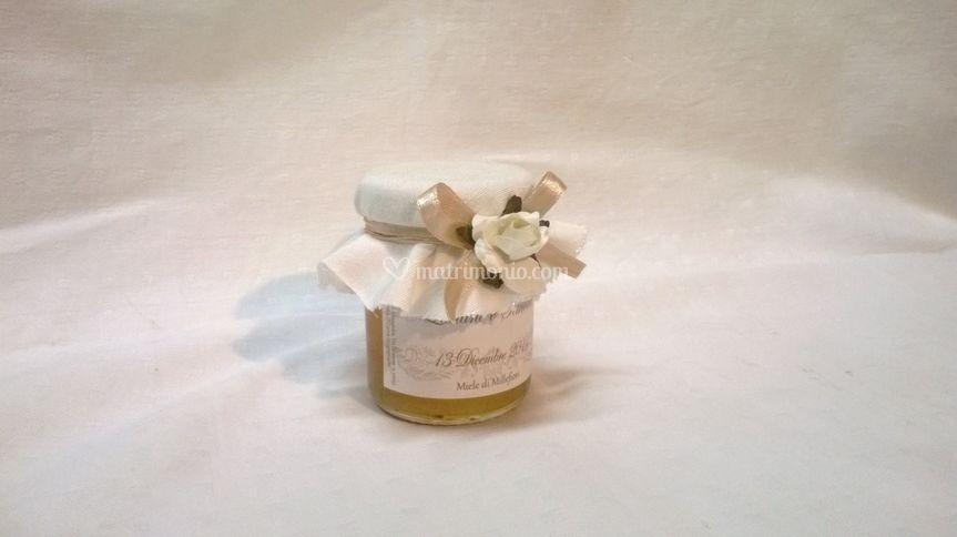 Vasetto miele con copritappo