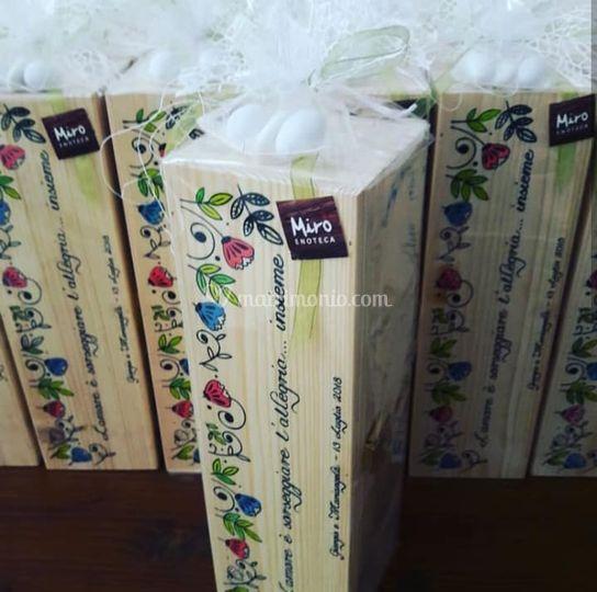 Cassetta legno con fiori