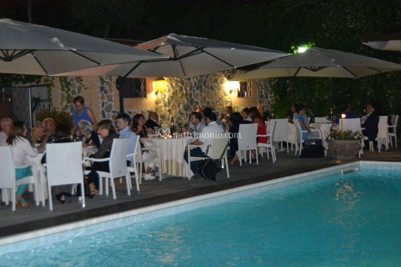 Villa cristina for Cena in piscina