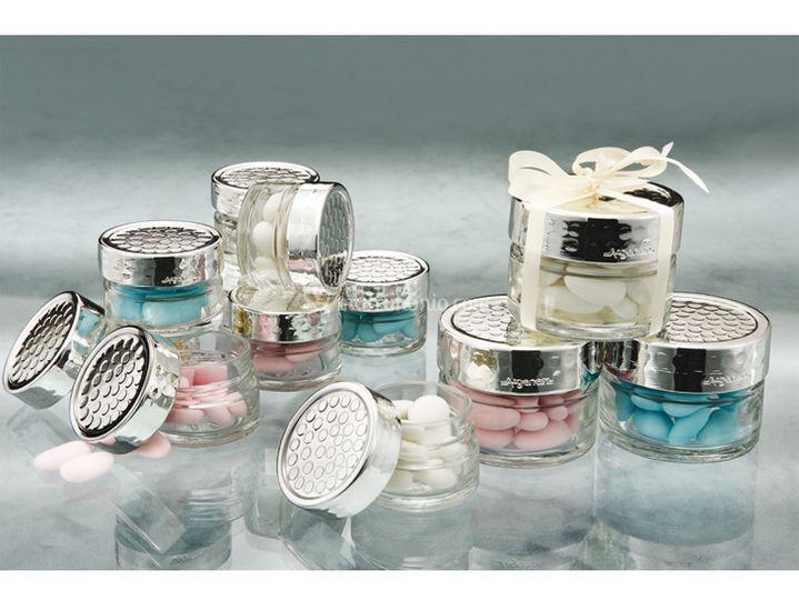 Vasetti vetro argento