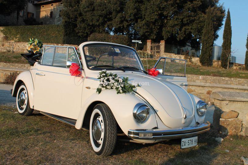 Macchine Matrimonio Toscana : Noleggio maggiolone cabrio